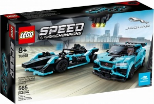 LEGO 76898 Speed Champions Formula E Panasonic Jaguar Racing GEN2 car i Jaguar I-PACE eTROPHY