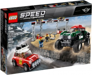 LEGO 75894 Speed Champions 1967 Mini Cooper S Rally oraz 2018 MINI John Cooper Works Buggy